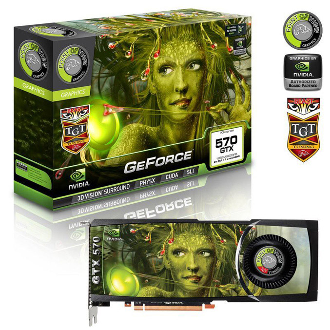 Point of View GeForce GTX 570 Beast air cooled
