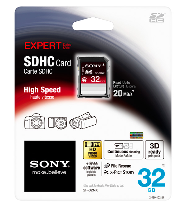 Sony Expert SDHC card 32GB