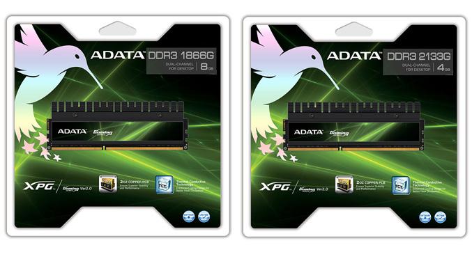 ADATA-DDR3-1866G and 2133G memory kits