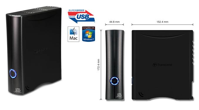 Transcend StoreJet 35T3 USB 3.0 external hard drive