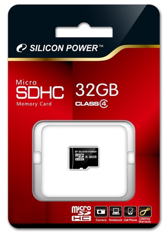 Silicon Power outs 32GB microSDHC Class4 memory card