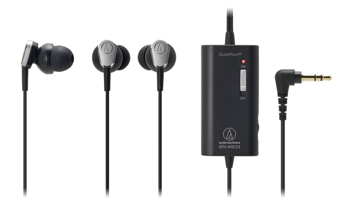 Audio-Technica ATH-ANC23 QuietPoint Active Noise Cancelling Headphones