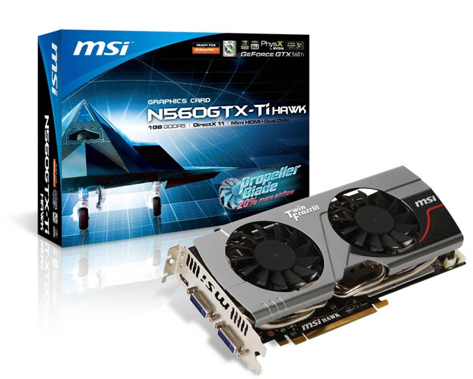 MSI N560GTX Ti-Hawk graphics card
