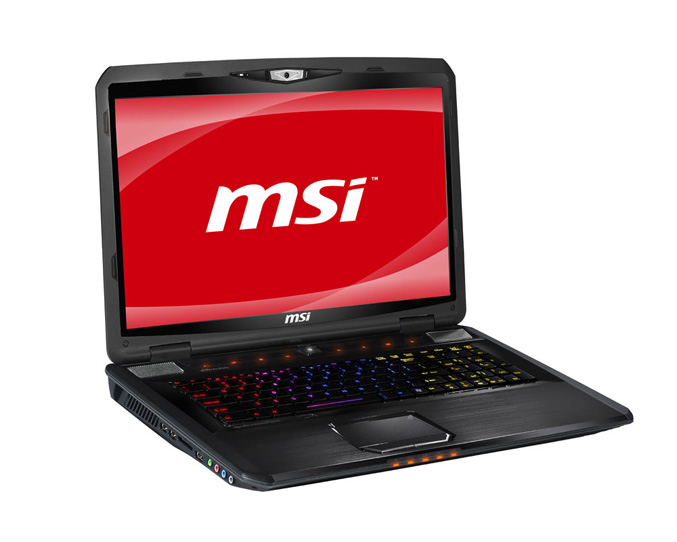 MSI GX780 gaming laptop