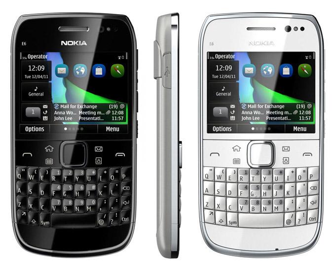 Nokia E6 smartphone