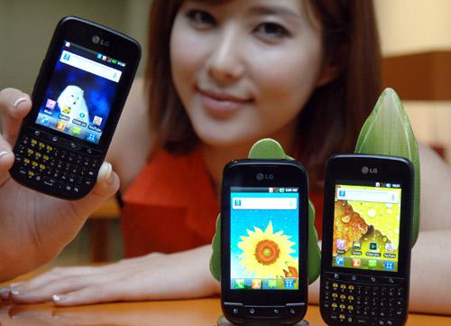 LG Optimus Net and Optimus Pro smartphones