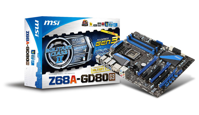 MSI Z68A-GD80(G3) mainboard