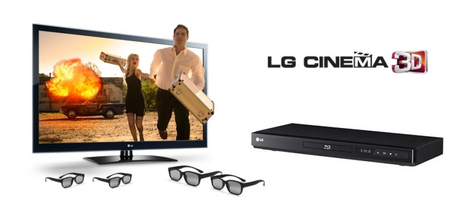 LG offers LW5300 Cinema 3D HDTV, 3D Blu-ray Player and four pairs of 3D Glasses as a package