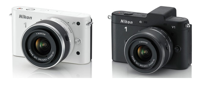 Nikon J1 and Nikon V1 cameras