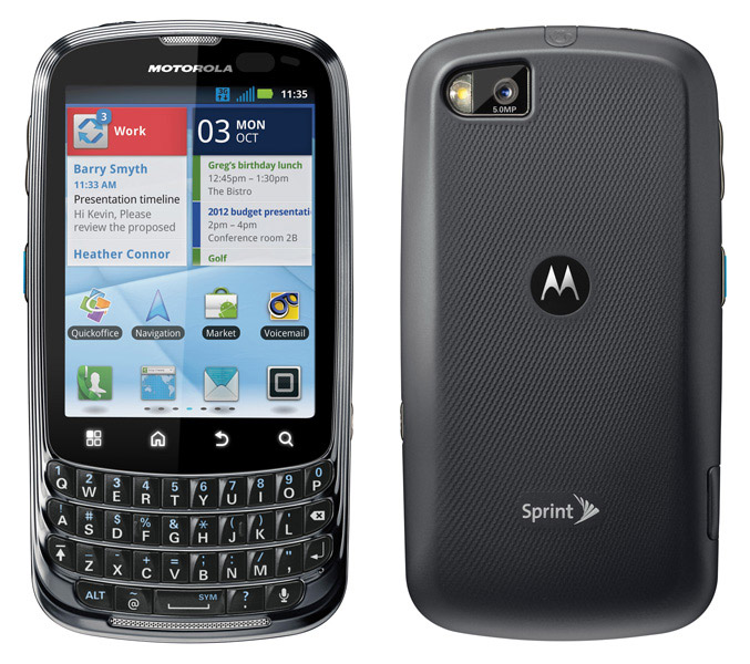 Motorola Admiral smartphone