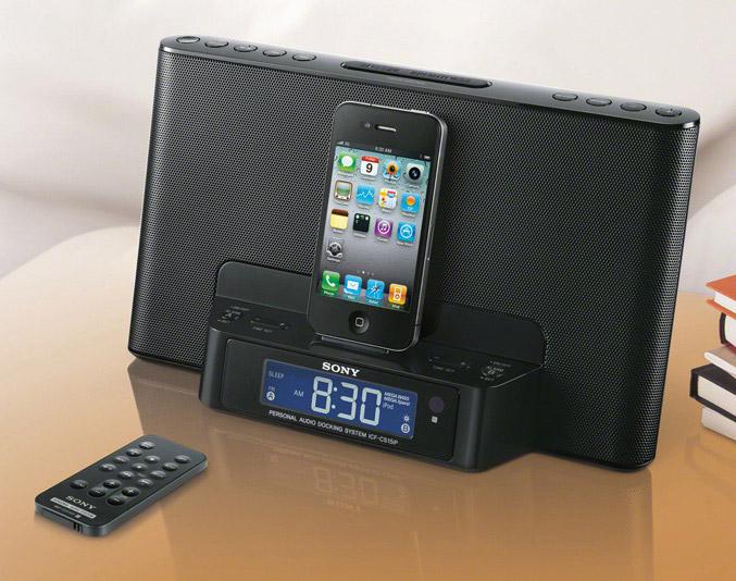 Sony ICF-DS15iP clock radio dock