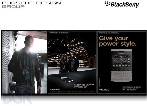 Porsche RIM P9531 smartphone slides
