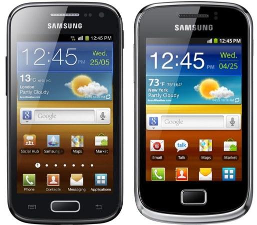 Galaxy Ace 2 Galaxy mini 2 front