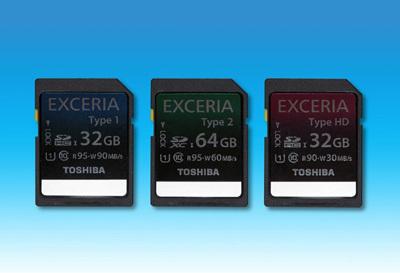 Toshiba EXCERIA memory cards