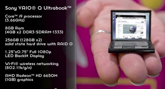 Sony Vaio Q ultrabook