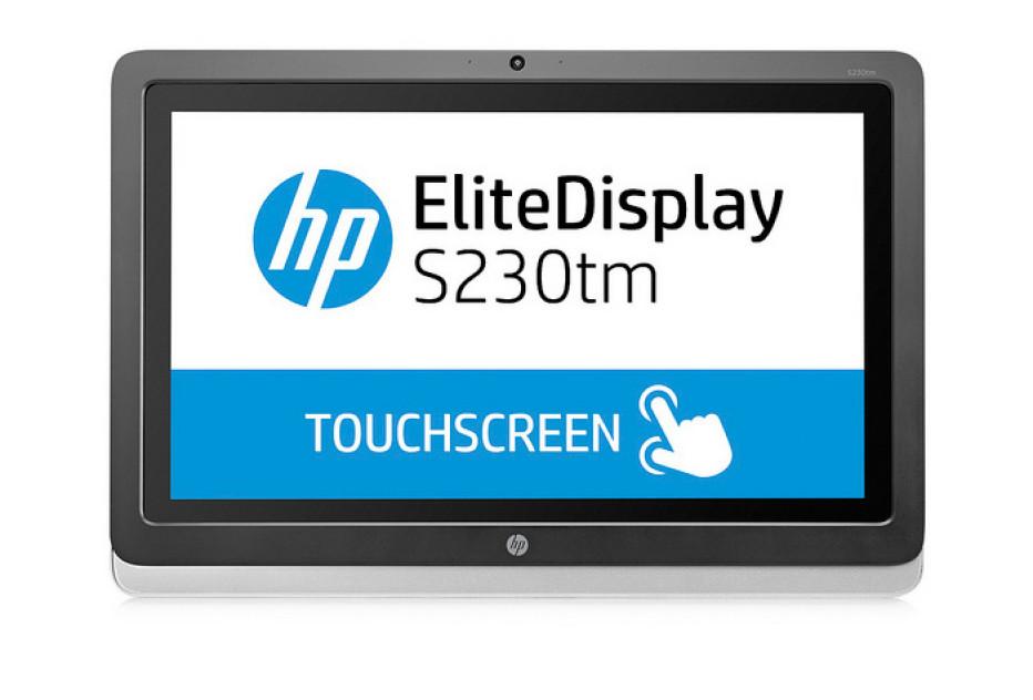 HP releases EliteDisplay S230tm sensor display