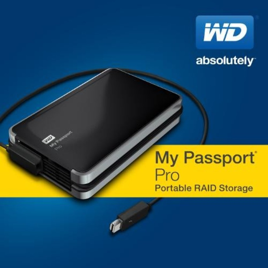 Western Digital reveals first Thunderbolt-powered portable drive