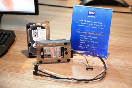 Western Digital shows off SATA Express hard drive