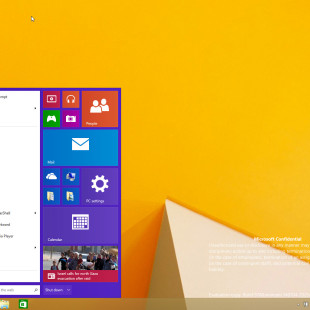Windows 9 Start menu leaked online
