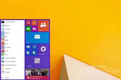 Windows 9 Start menu leaked online