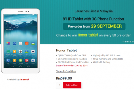Huawei presents 8-inch tablet with phone calls capability