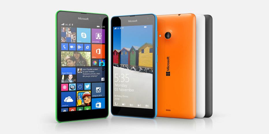 Microsoft unveils the Lumia 535