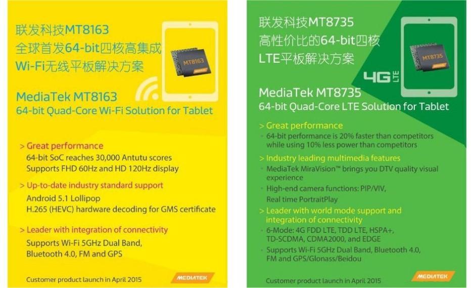 MediaTek unveils two new tablet processors