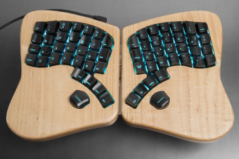 Model 01 is a two-piece mechanical ergonomic keyboard