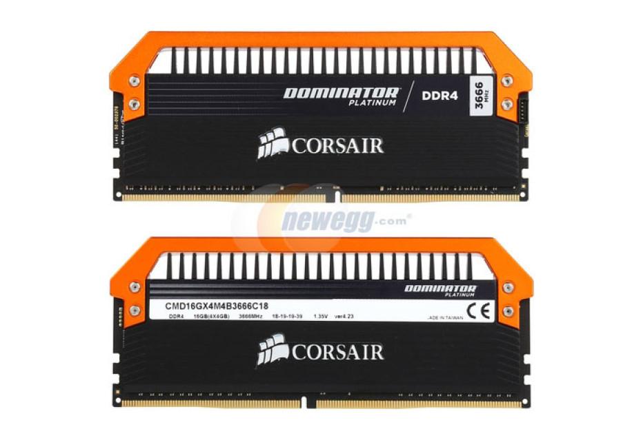 Corsair launches DDR4 memory at 3666 MHz