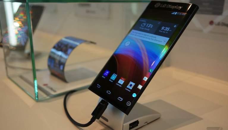LG curved edge smartphone