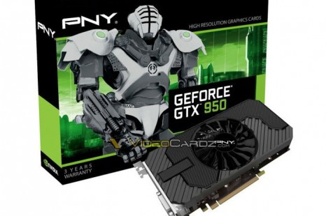 PNY lists first GeForce GTX 950 graphics card