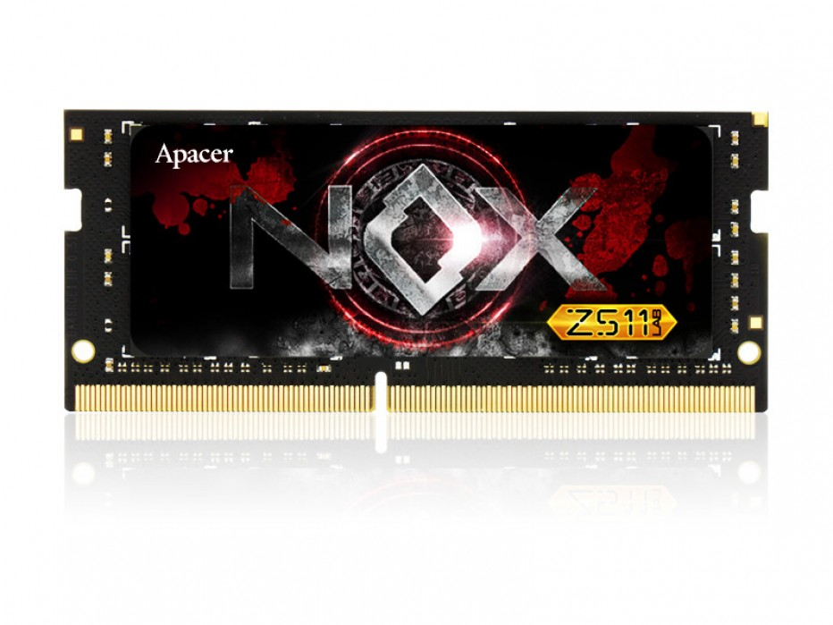 Apacer builds 16 GB DDR4 SO-DIMM memory modules