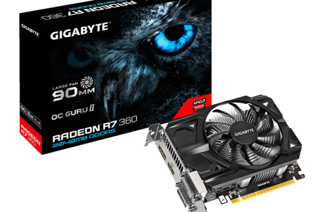 Gigabyte releases short R7 360 video card