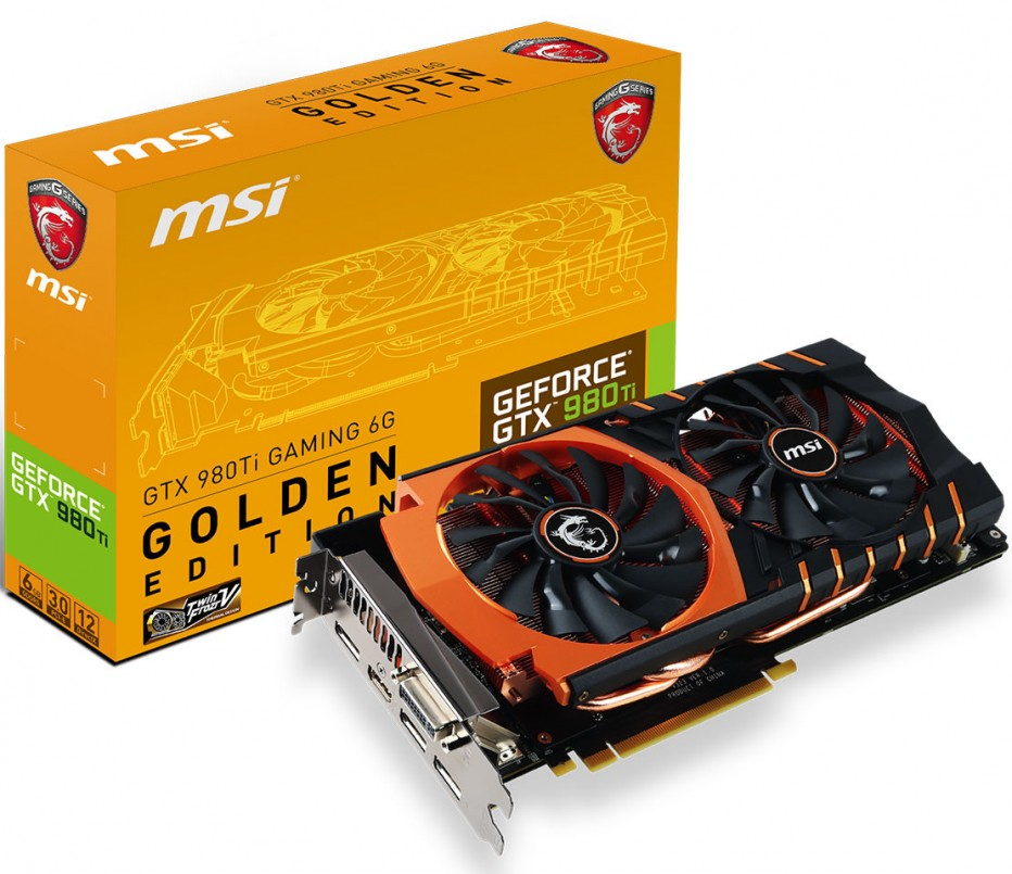 MSI announces GTX 980 Ti Golden Edition video card