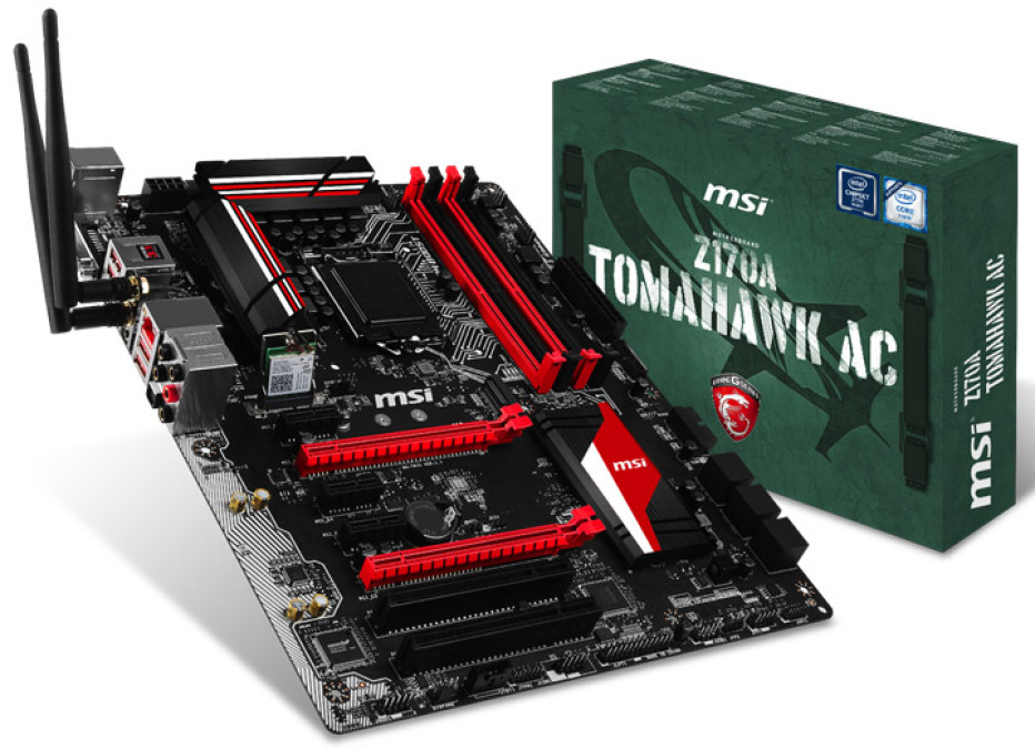 MSI announces the Z170A Tomahawk AC gaming motherboard
