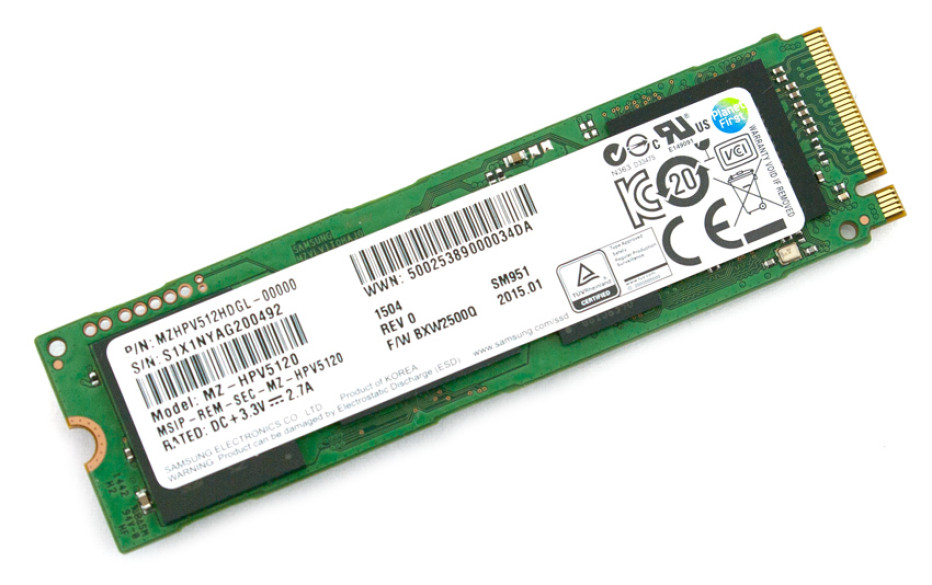 Samsung launches the SM951 solid-state drive