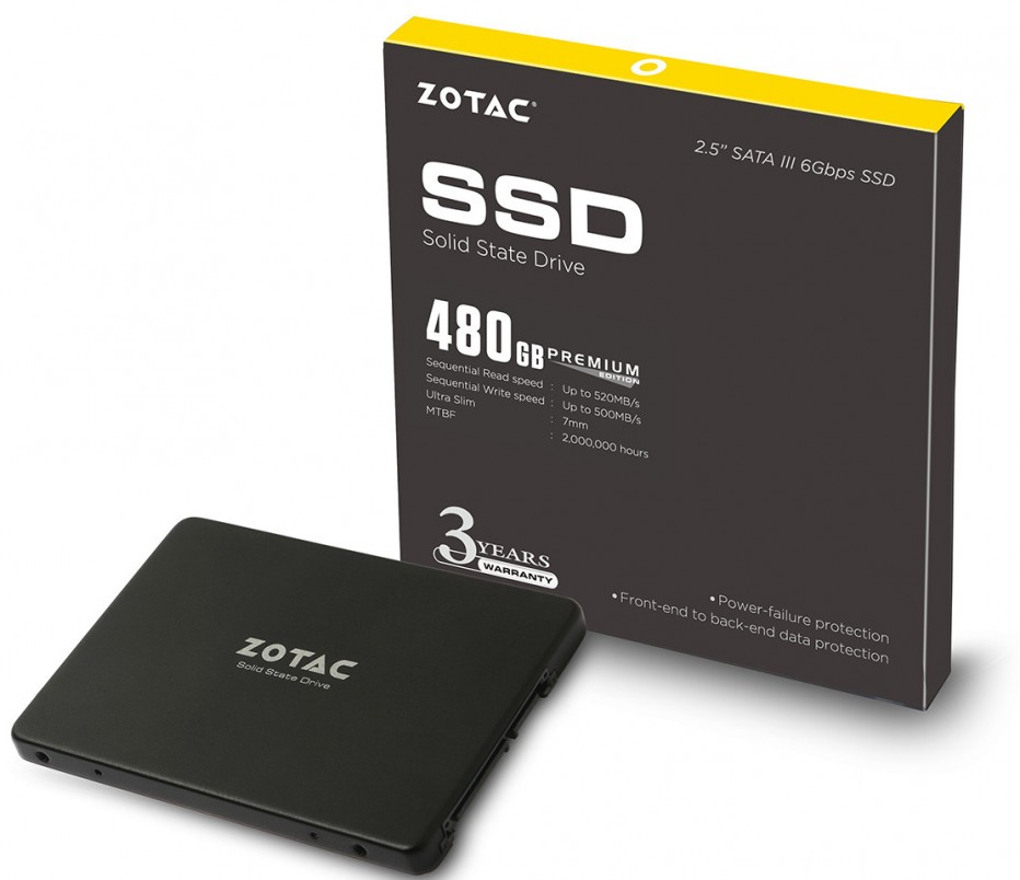Zotac announces Premium Series solid-state drives