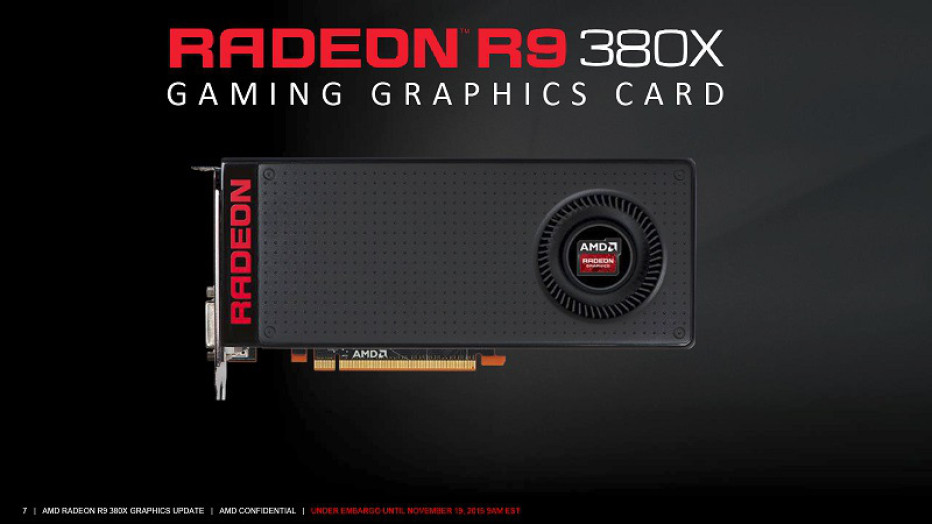 AMD releases the Radeon R9 380X video card