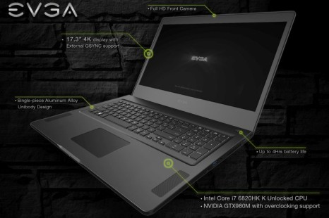 EVGA debuts the SC17 gaming notebook