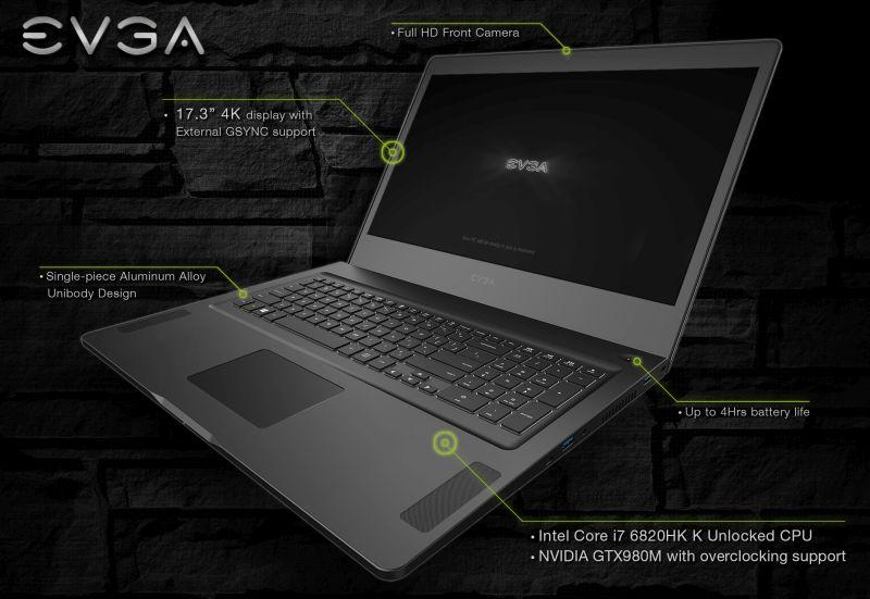 EVGA SC17 notebook