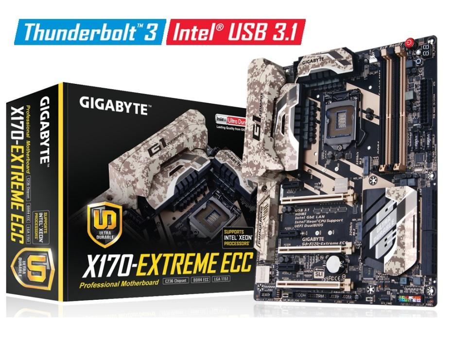 Gigabyte presents GA-X170-Extreme ECC motherboard