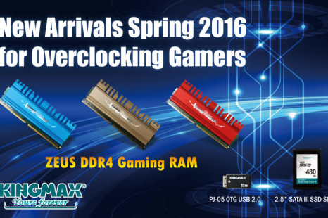 Kingmax announces Zeus DDR4 memory