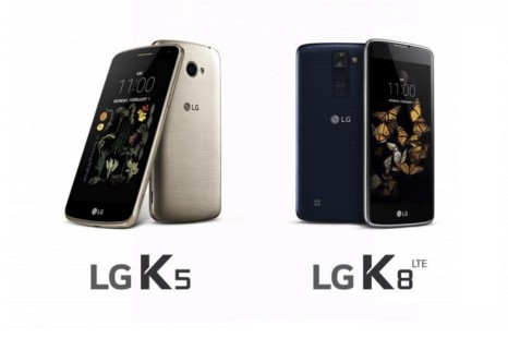 LG announces K5 and K8 smartphones