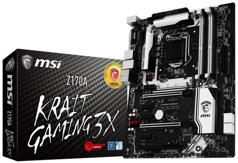 MSI unveils Z170A Krait Gaming 3X motherboard
