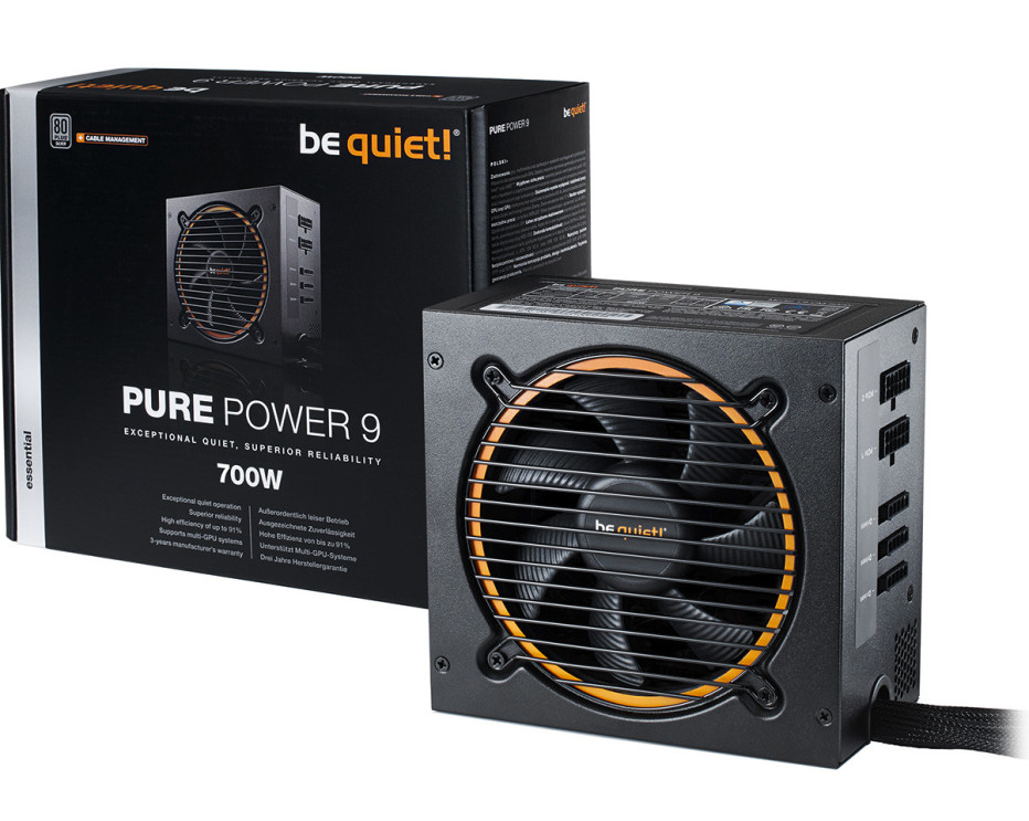 be quiet! debuts Pure Power 9 CM power supplies