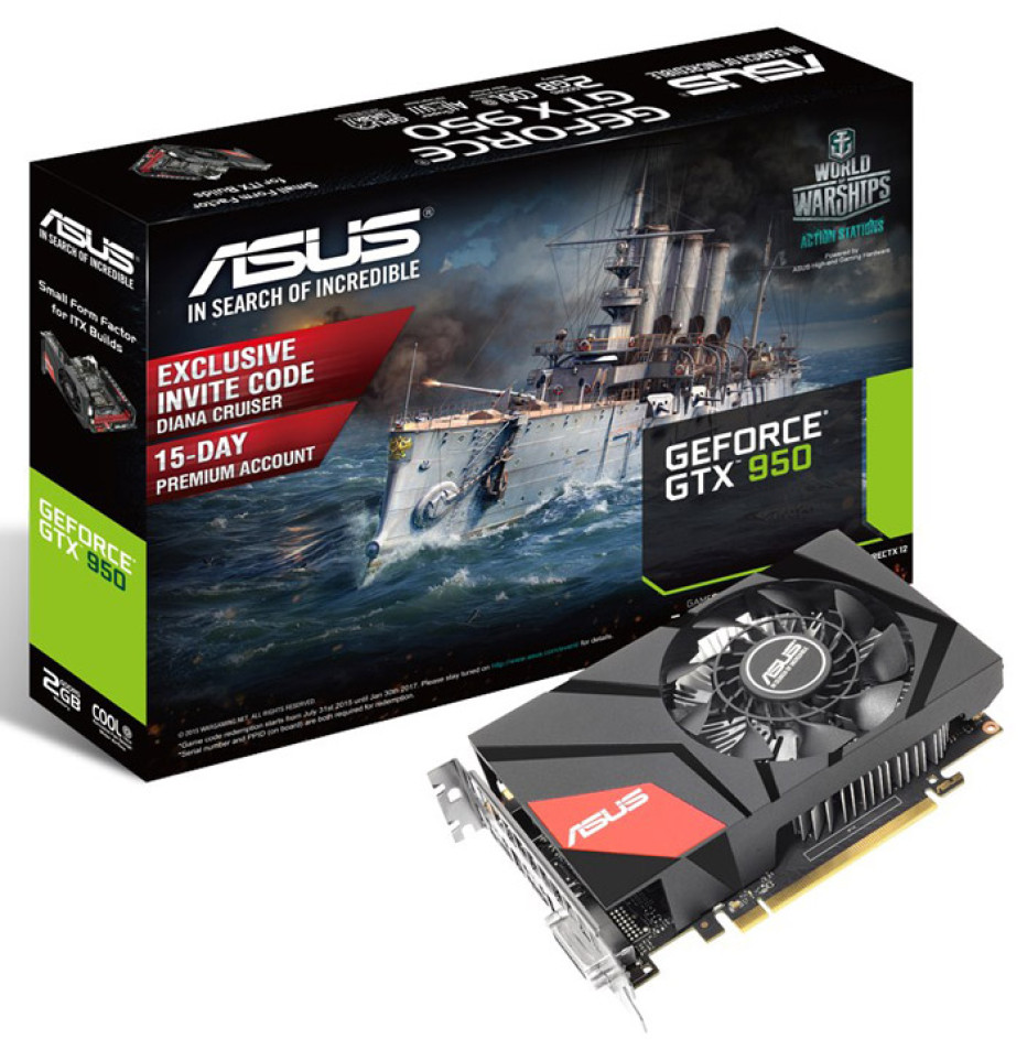 ASUS releases GeForce GTX 950 Mini video card