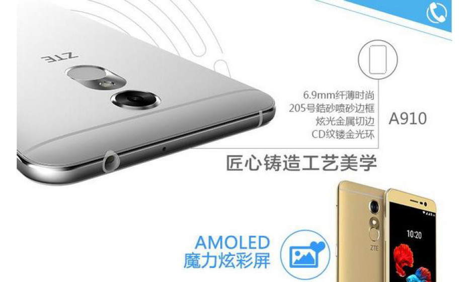 ZTE presents the Blade A910 smartphone