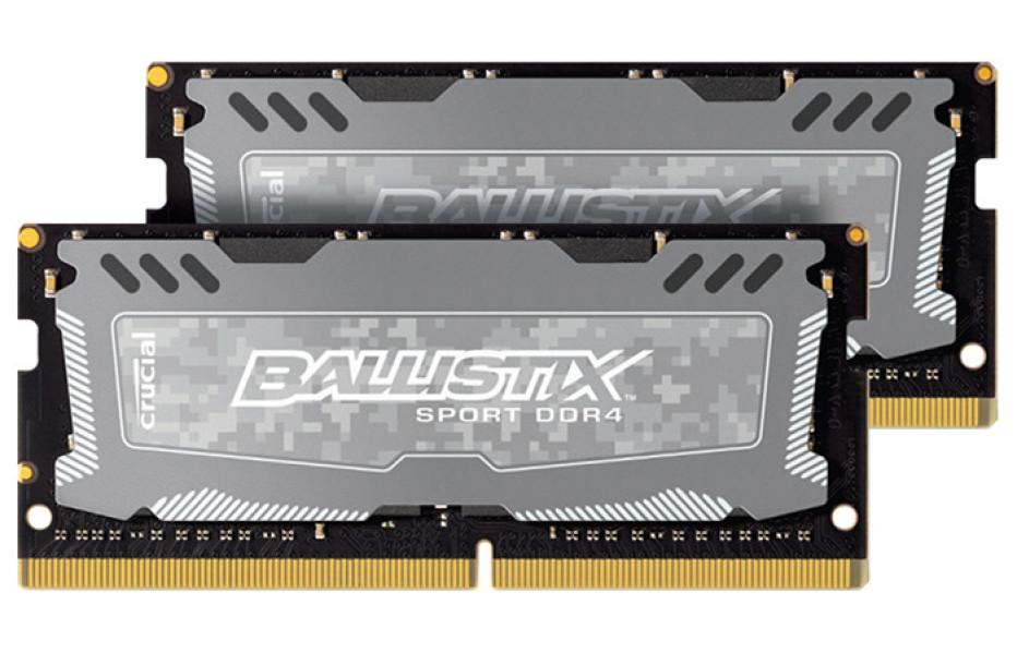 Crucial creates Ballistix Sport DDR4 notebook memory