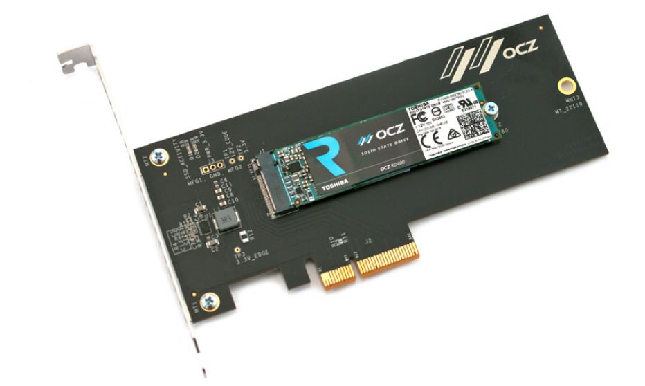 Toshiba presents OCZ RD400 NVMe SSDs
