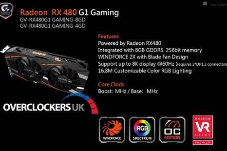 Gigabyte prepares Radeon RX 480 G1 Gaming video card